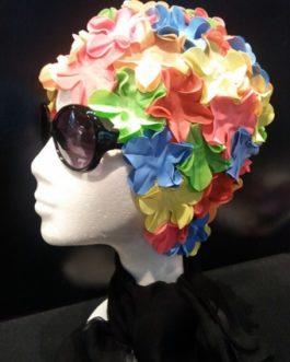 Gorro de Flores multicolor.