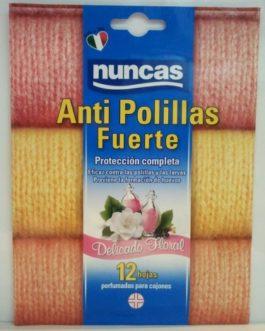 Nuncas Antipolillas Fuerte Delicado Floral 12 hojas.