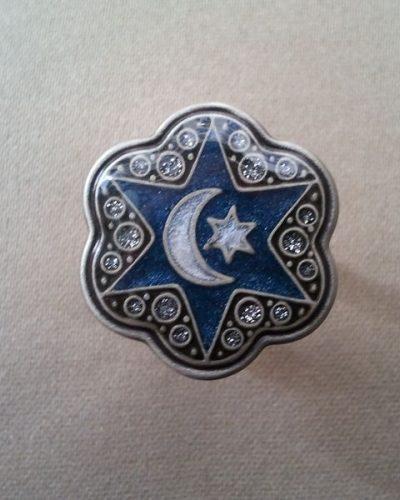 Anillo Esmaltado de Menorca Luna azul