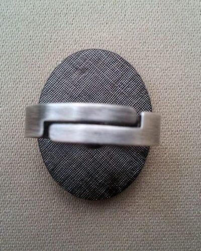 Anillo Esmaltado de Menorca Ovalado granate