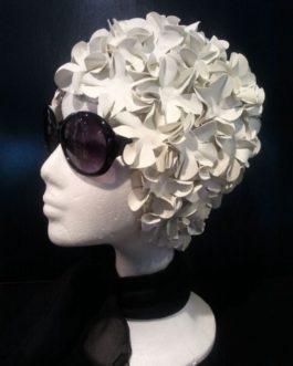 Gorro de Flores Blanco.