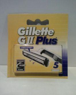 Gillete  GII Plus Hojas recambio, 5 unidades.