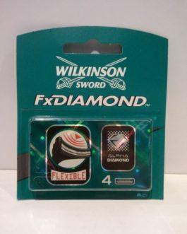 Wilkinson FxDiamond Hojas recambio, 4 unidades.