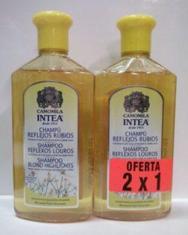 Camomila Intea Champú reflejos rubios 2X1, 250 ml cada unidad.
