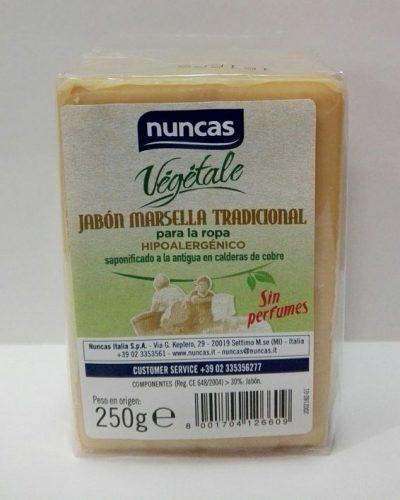 Nuncas 100% Vegetal, Jabón Marsella Tradicional, Pastilla 250gr.