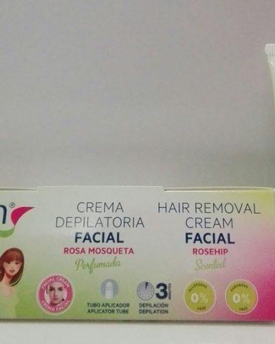 Daen Crema Depilatoria Facial Rosa Mosqueta 15ml.