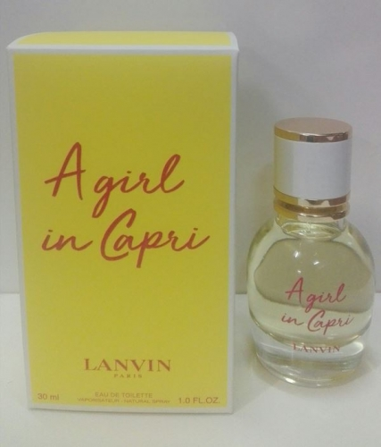 A girl in Capri Lanvin. Eau de Toillette 30 ml. Vap.