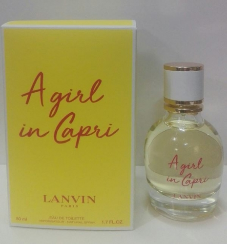 A girl in Capri Lanvin. Eau de Toillette 50 ml. Vap.