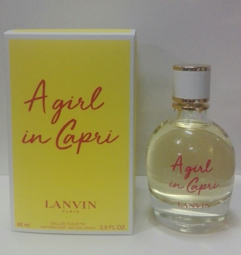 A girl in Capri Lanvin. Eau de Toilette 90 ml. Vap.