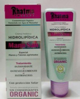Rhatma Therapy Mano San, 100ml. Crema Hidrolipídica. Manos y talones.