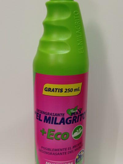 «El Milagrito» Desengrasante Multiusos +Eco 750ml.+250ml. gratis
