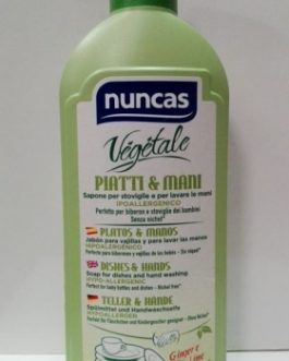 Nuncas 100% Vegetal, Lavavajillas Platos y Manos 500ml.